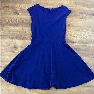 TOPSHOP Deep purple skater dress